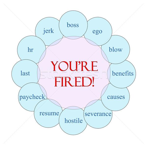 You're Fired Circular Word Concept Stock photo © mybaitshop
