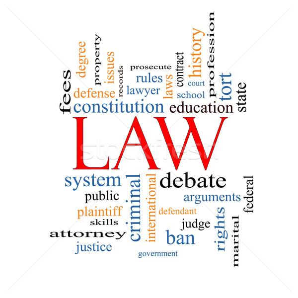 法 言葉の雲 弁護士 学校 ストックフォト © mybaitshop