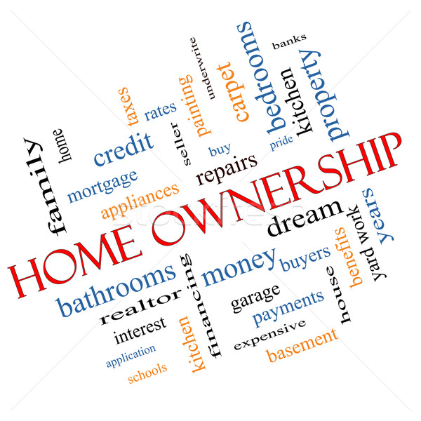 Home Ownership Word Cloud Concept Angled Stock photo © mybaitshop