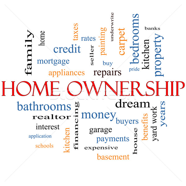 Home Ownership Word Cloud Concept Stock photo © mybaitshop