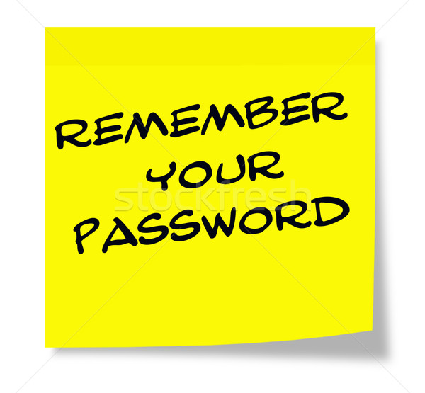 Remember Your Password written on yellow sticky note Stock photo © mybaitshop