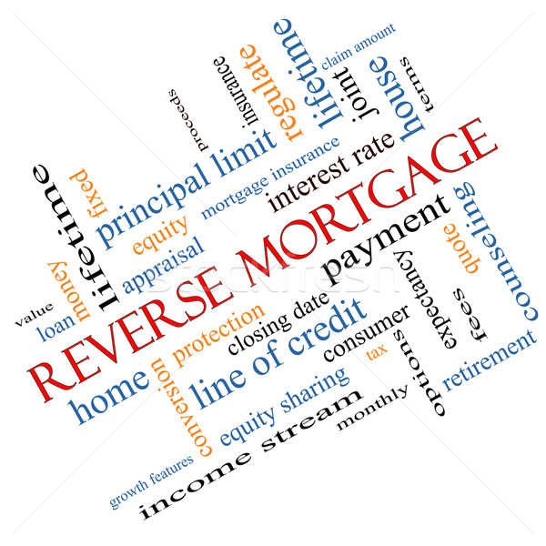 Reverse Mortgage Word Cloud Concept Angled Stock photo © mybaitshop