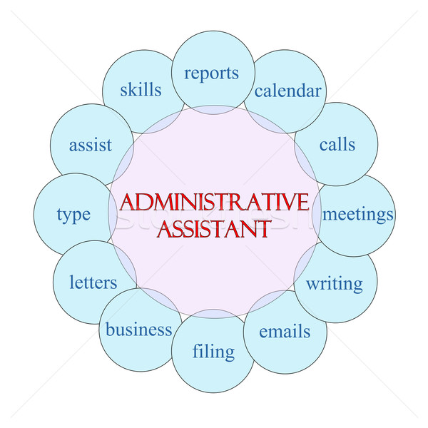 Administrative Assistant Circular Word Concept Stock photo © mybaitshop