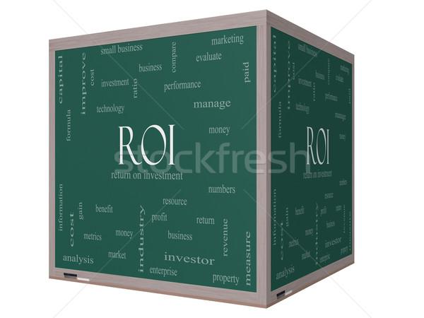 Roi 言葉の雲 3D キューブ 黒板 ストックフォト © mybaitshop