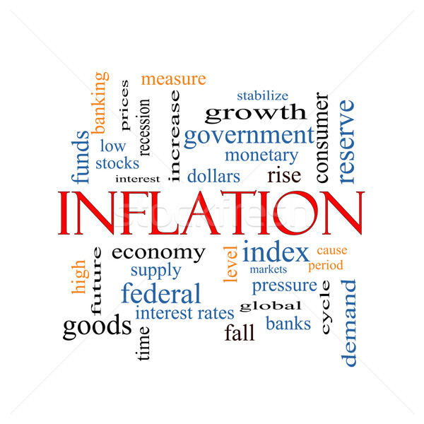 Inflation Word Cloud Concept Stock photo © mybaitshop