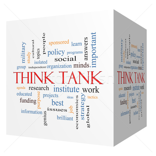 Think Tank 3D cube Word Cloud Concept Stock photo © mybaitshop