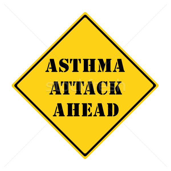 Stock photo: Asthma Attack Ahead Sign