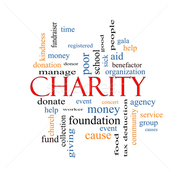 Charity Word Cloud Concept  Stock photo © mybaitshop