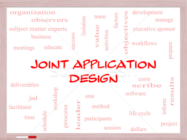 Joint Application Word Cloud Concept on a Whiteboard Stock photo © mybaitshop