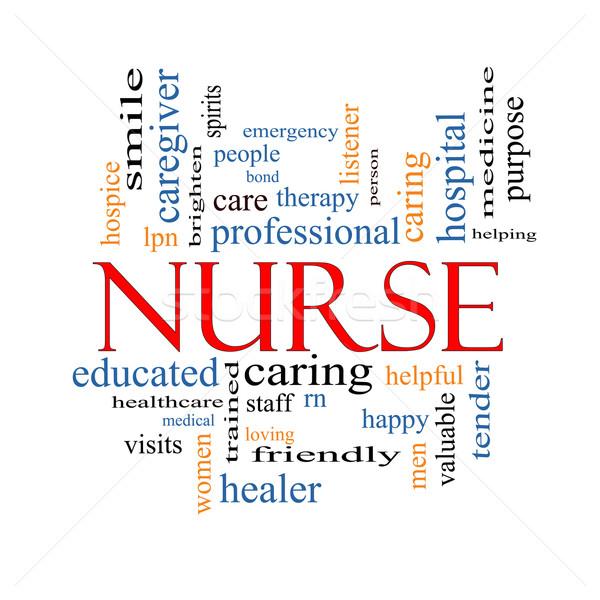 Nurse Word Cloud Concept Stock photo © mybaitshop