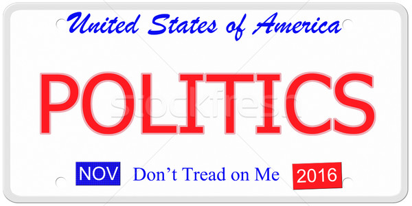 Politics License Plate Stock photo © mybaitshop