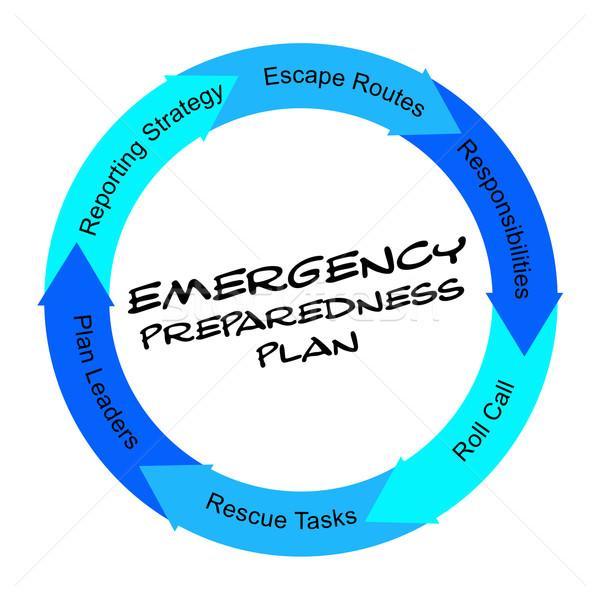 緊急 計画 言葉 サークル リーダー ストックフォト © mybaitshop
