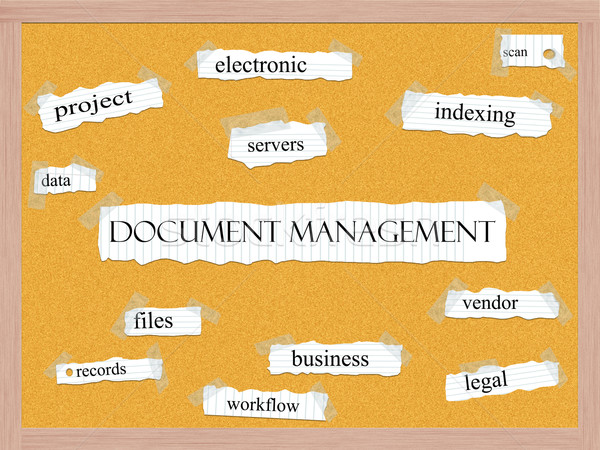 Document Management Corkboard Word Concept Stock photo © mybaitshop