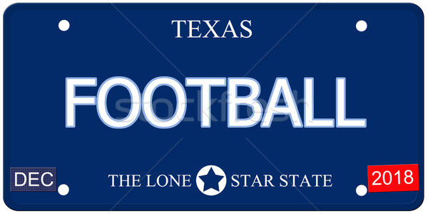 Football Texas imitation plaque d'immatriculation faux mot Photo stock © mybaitshop