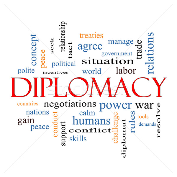 Diplomacy Word Cloud Concept Stock photo © mybaitshop