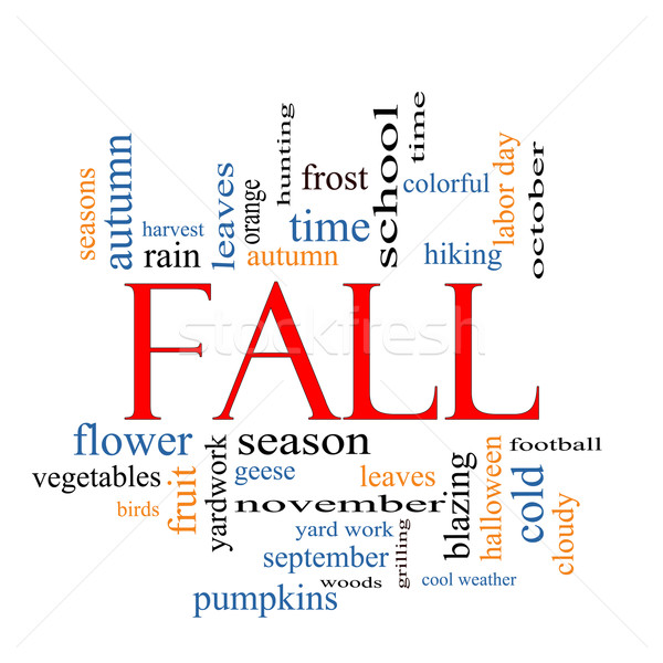 Fall or Autumn Word Cloud Concept Stock photo © mybaitshop