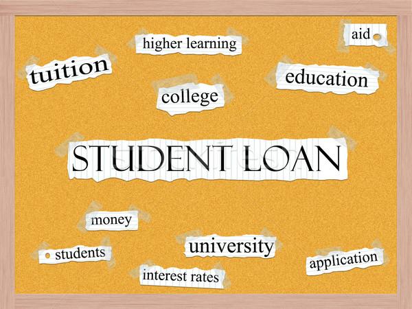 Student Loan Corkboard Concept Stock photo © mybaitshop