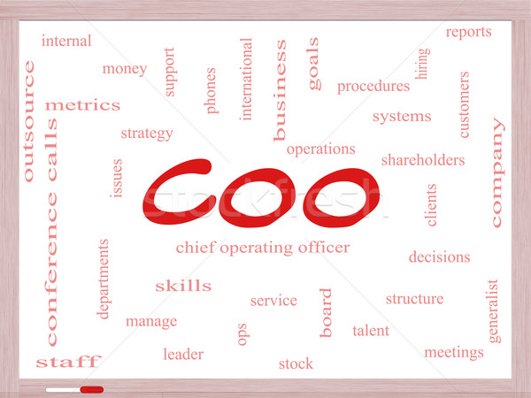 Stock photo: COO Word Cloud Concept on a Dry Erase Board