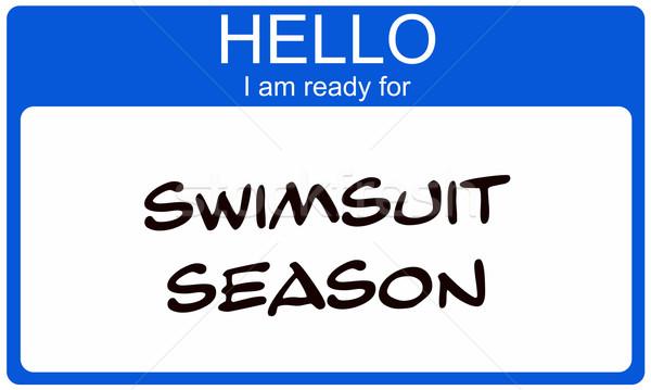 Swimsuit Season Nametag Stock photo © mybaitshop