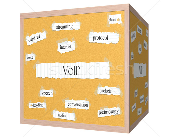 VOIP 3D cube Corkboard Word Concept Stock photo © mybaitshop