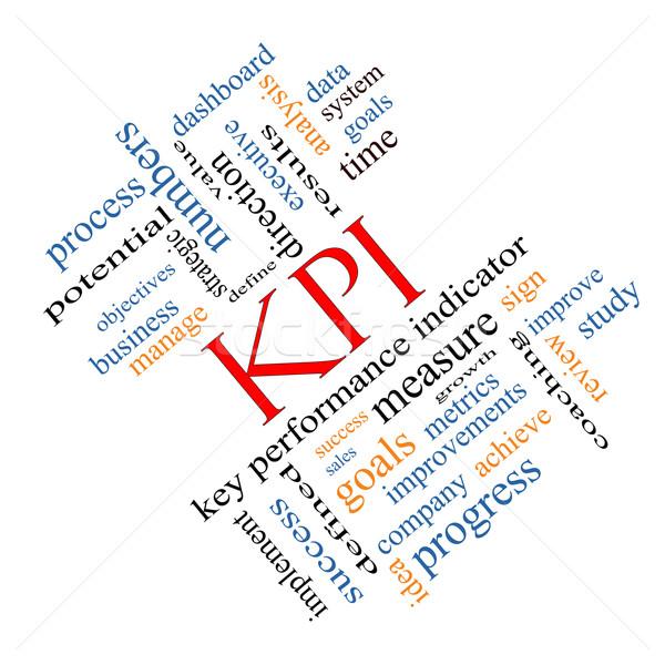 KPI Word Cloud Concept Angled Stock photo © mybaitshop