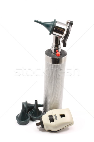 Upright Otoscope and accessories Stock photo © mybaitshop
