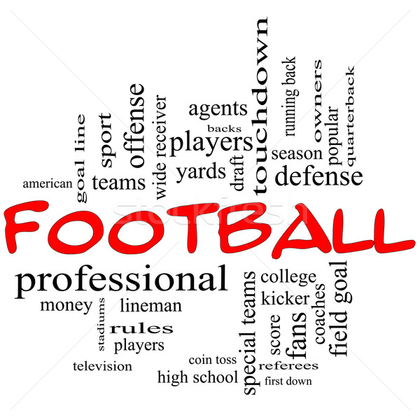 Football Word Cloud Concept in red caps Stock photo © mybaitshop