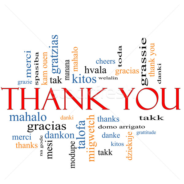 Thank You Word Cloud Concept Stock photo © mybaitshop