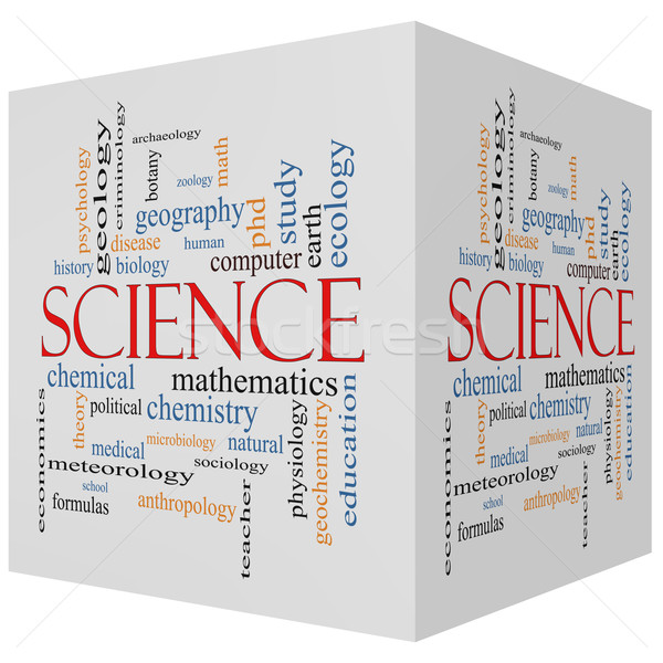 Science 3D Cube Word Cloud Concept Stock photo © mybaitshop