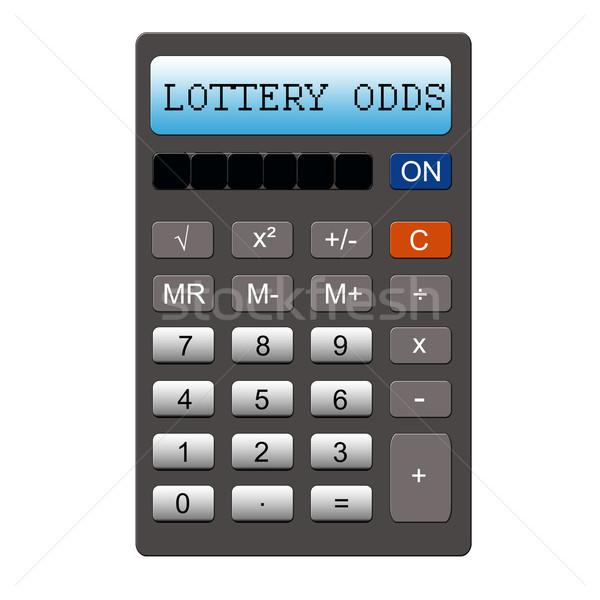 Loteria probabilidade calculadora imitação palavras Foto stock © mybaitshop