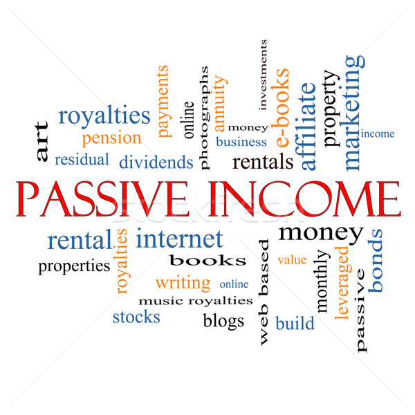 Passive Income Word Cloud Concept Stock photo © mybaitshop