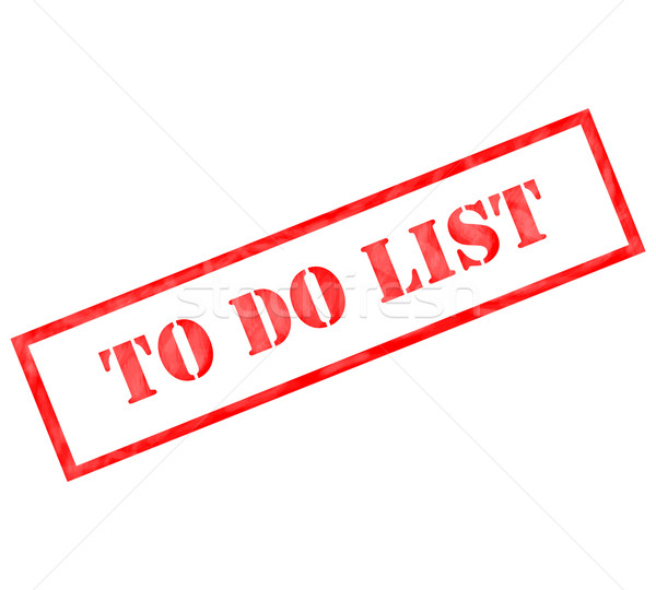 Red To Do List weathered stamp Stock photo © mybaitshop