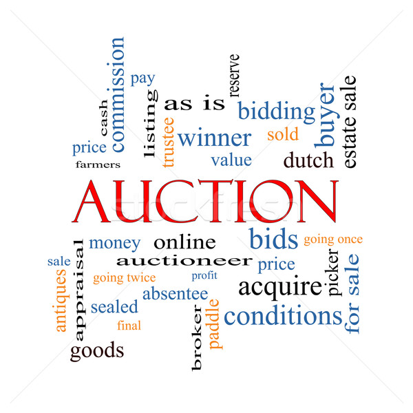Auction Word Cloud Concept Stock photo © mybaitshop