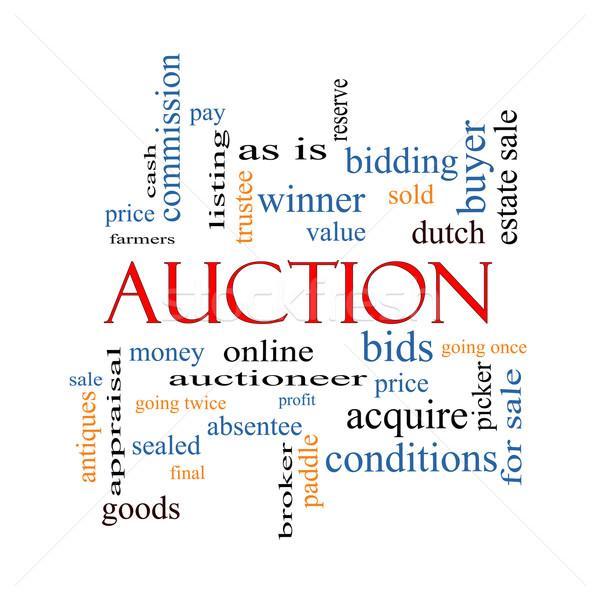 árverés szófelhő nagyszerű ár online több Stock fotó © mybaitshop