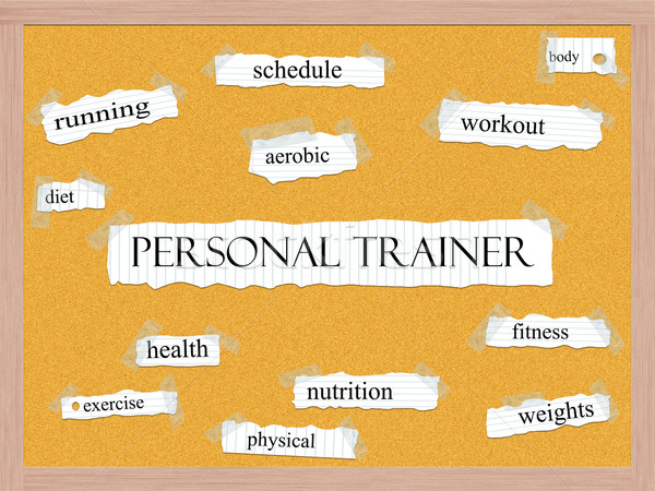 Personal Trainer Corkboard Word Concept Stock photo © mybaitshop
