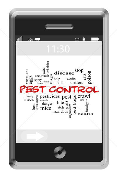 Nuage de mots écran tactile téléphone magnifique bugs Photo stock © mybaitshop