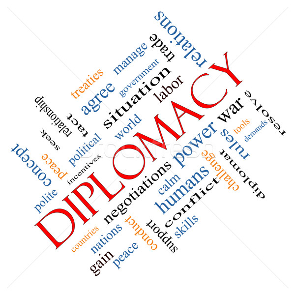 Diplomacy Word Cloud Concept Angled Stock photo © mybaitshop