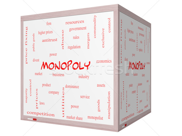 Monopole nuage de mots 3D cube magnifique Photo stock © mybaitshop