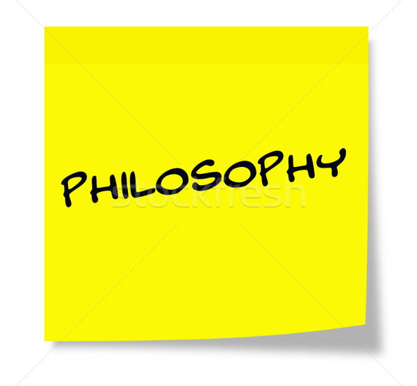 Philosophy Sticky Note Stock photo © mybaitshop