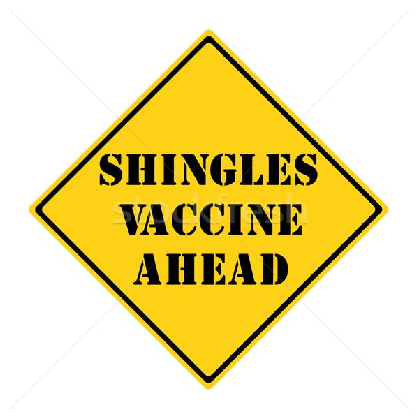 вакцина впереди знак желтый черный Diamond Сток-фото © mybaitshop