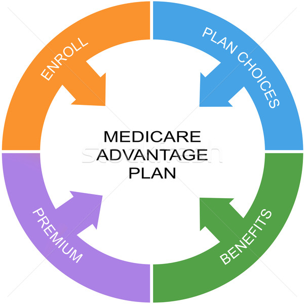 Medicare Advantage Plan Word Circle Concept Stock photo © mybaitshop