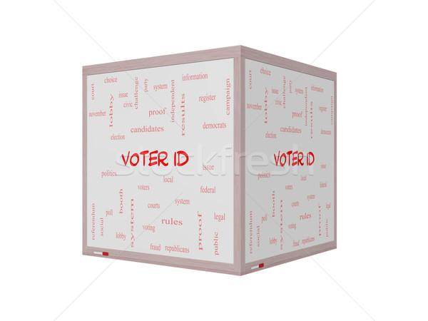 Eleitor nuvem da palavra 3D Foto stock © mybaitshop