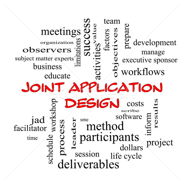 Joint Application Word Cloud Concept in red caps Stock photo © mybaitshop