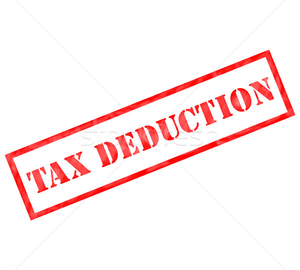 Red Tax Deduction weathered stamp Stock photo © mybaitshop