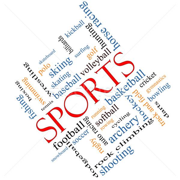 Sports Word Cloud Concept Angled Stock photo © mybaitshop