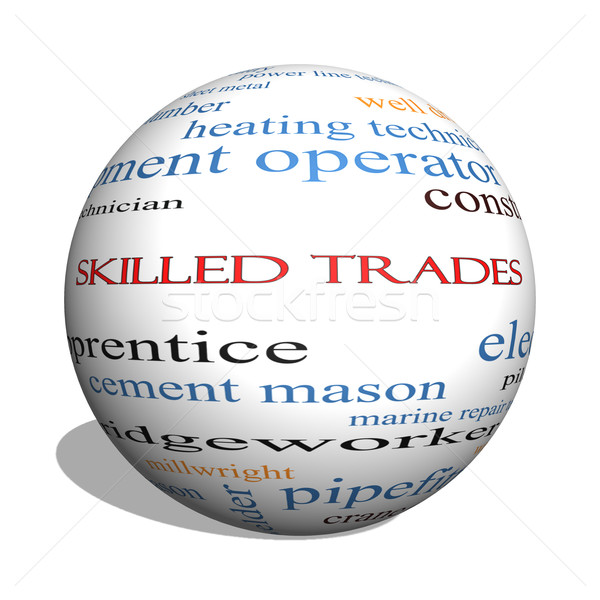 Skilled Trades 3D sphere Word Cloud Concept Stock photo © mybaitshop