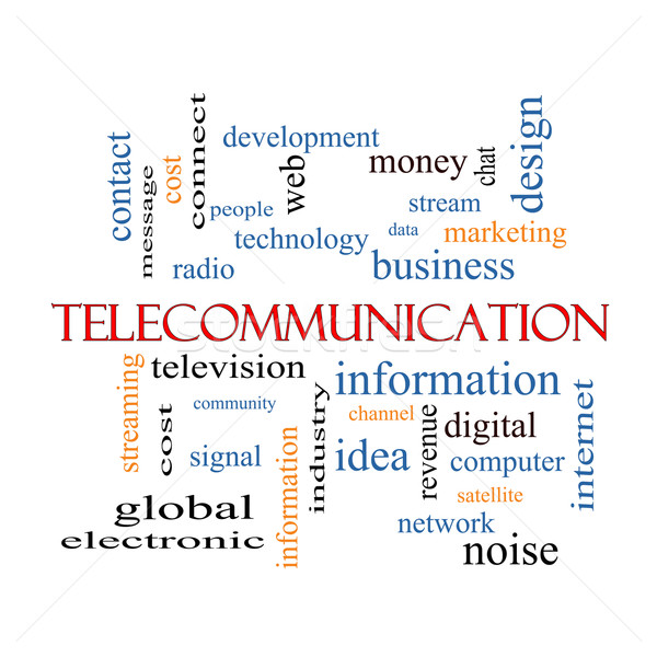 Telecommunication Word Cloud Concept Stock photo © mybaitshop