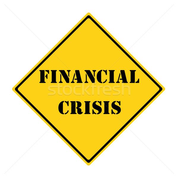 Finansal kriz imzalamak sarı siyah elmas Stok fotoğraf © mybaitshop