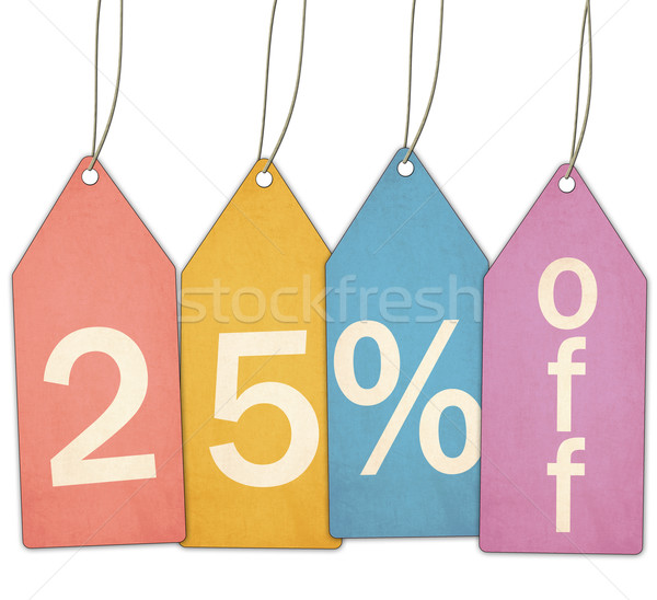 Twenty Five Percent Off Sale Colorful Tags Stock photo © mybaitshop