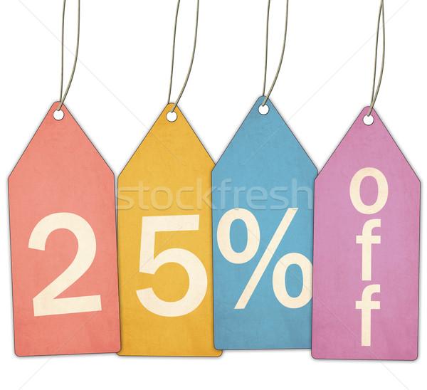 Zwanzig fünf Prozent aus Verkauf farbenreich Stock foto © mybaitshop